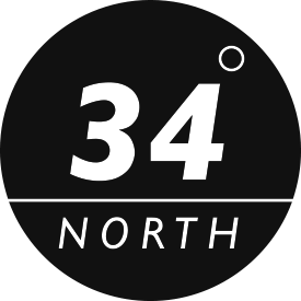 34 Degrees North logo