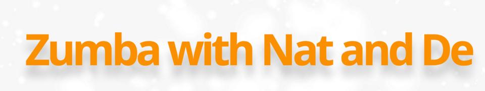 Zumba with Nat & De logo