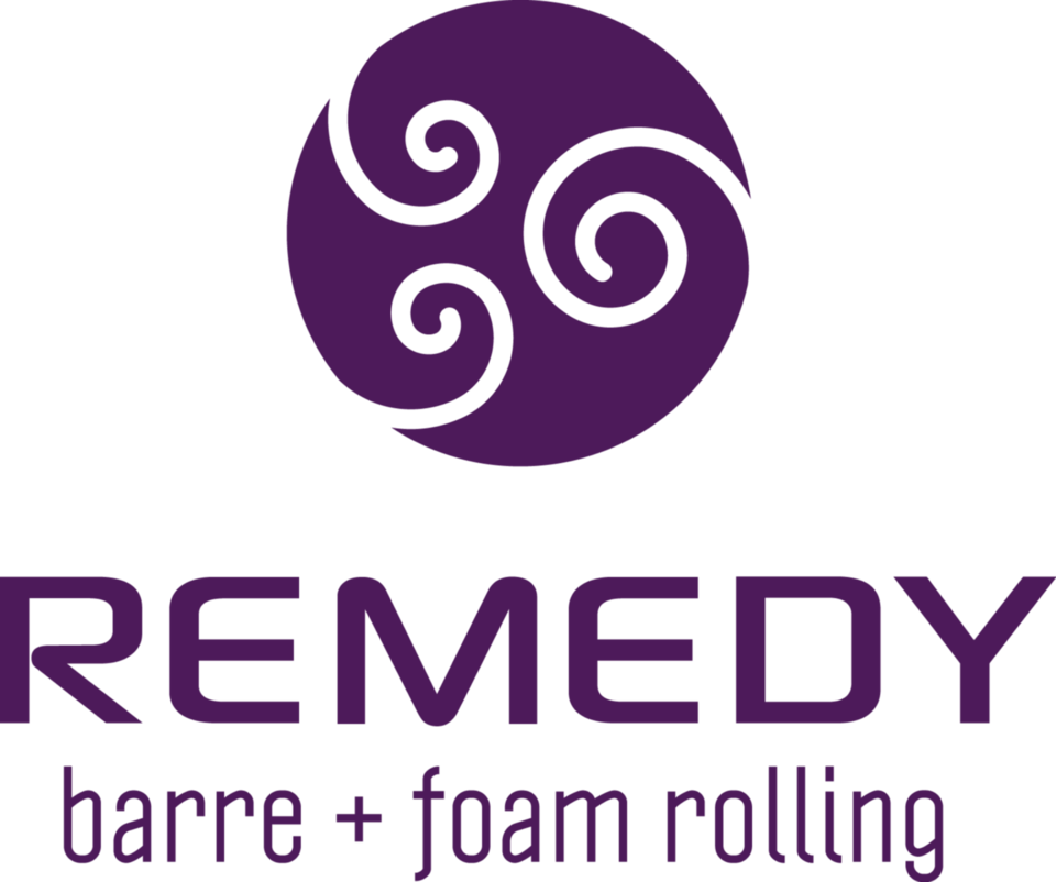 Remedy Barre and Foam Rolling logo